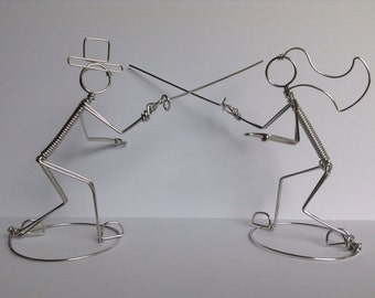 Fencing Wedding Cake Topper: ON GUARD