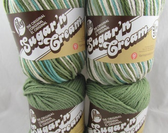 EMERALD ISLE Combo  Lily Sugar'n Cream Yarn 4 Balls