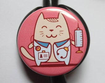 Kawaii Doctor CAT----Stethoscope ID Tag