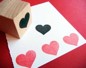Heart Rubber Stamp - Handmade rubber stamp by Blossom Stamps