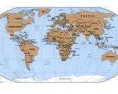 Custom Map Pieces for Jillian