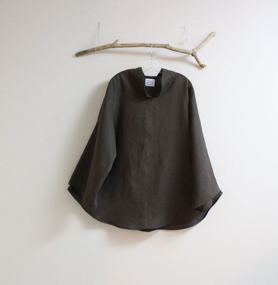 Custom heavy weight linen chipao collar wavy top made to fit listing