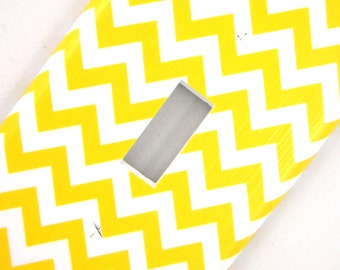 Yellow Chevron Light Switch Cover Switchplate