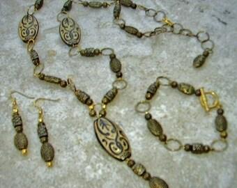 Jewelry Set MARAKESH ~ Necklace, Bracelet & Earrings