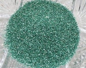 Real German GLASS GLITTER Fine Spring Green 1 Ounce 90 Grit