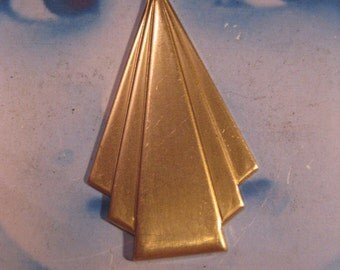 Raw Brass Art Deco  Triangle Stampings 580RAW x2