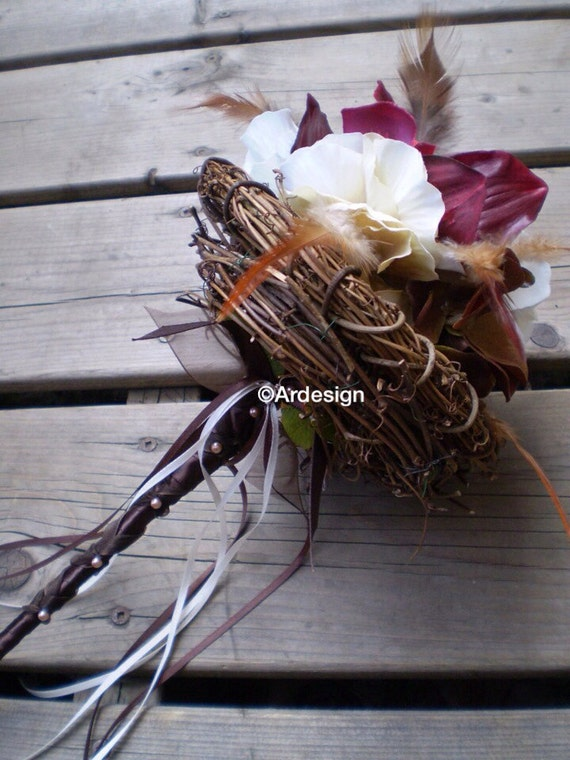 LOVE NEST Flower Wand Perfect For Bridesmaids Or Flower Girl