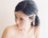 Wedding hair accessory, crystal boho 1920s headband, bridal crown - Alexandria no. 2030