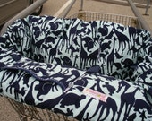 Shopping Cart cover for boy or girl......Silhouette Animals in Mint
