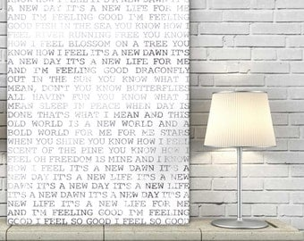 Personalized Wedding Vow Art custom canvas Whimsical or Romantic Wall Art Canvaswith lyrics 18X24
