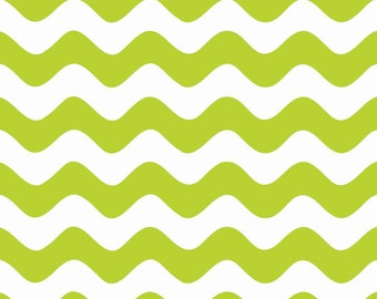 Clearance SALE!!!  RBD, Wave in Lime (C415-32) - 1 yard