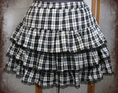 Panku-rori lolita ruffle skirt punk lolita adult--small to plus size
