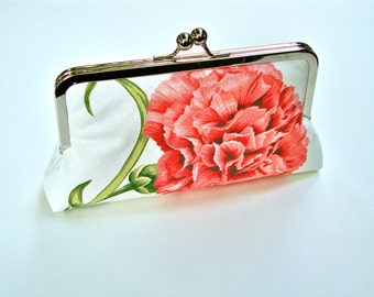 FREE SHIPPING Mollie Clutch Lined In Green Dupioni Silk