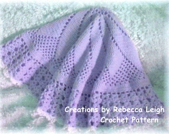 Crochet Pattern for Baby Afghan.........Jessica Round Baby Afghan