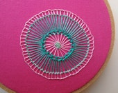 SALE hoop art - hand embroidered freeform flower in 4 inch hoop by bo betsy - free shipping