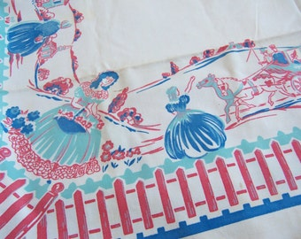 charming vintage fence table cloth