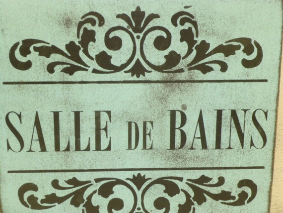 salle de bains sign le bain sign french by sophiescottage