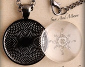 20 Black Pendant Kits ~ 20 1 Inch Blank Pendant Trays, 20 Rolo Necklaces, 20 Crystal Clear FX Glass Cabochon