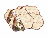 Medieval Christmas Noel Tag, Renaissance Christmas, Madrigal Tag, Madonna Noel Tag, Stocking Stuffer