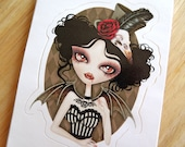 Countess Nocturne Vampire Die-cut Vinyl Sticker Decal