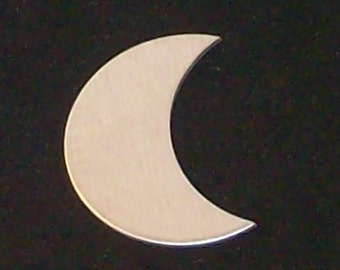 Aluminum Crescent Moons, stamping blanks, metal shapes, moon shapes, Bopper, crescent moon stamping blanks, stamping supplies