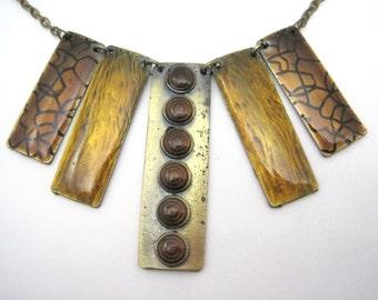 Modern Enamel Necklace