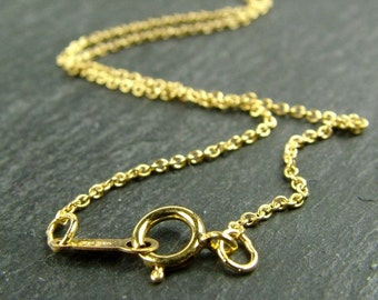16 Inch 14K Gold Filled Cable Chain Necklace (CG5680)