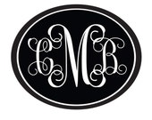Monogram Decal, vinyl wall decal, 3 Letter Monogram, Monogram Vinyl Decal, Custom Decal