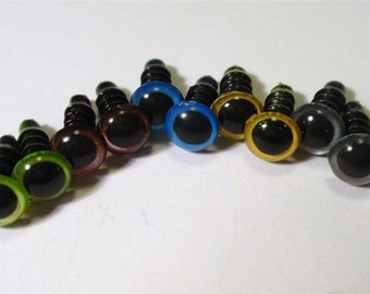 10mm MIX mixed colour Safety Eyes 10-pairs