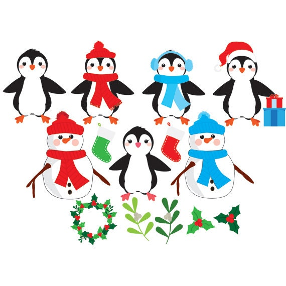 Mr Snowman On Christmas Is Getting Cold Coloring Page: Christmas Clip Art, Penguins, Snowman