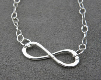 Silver Infinity Necklace - Handmade