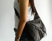 HAPPY NEW YEAR Sale  - 25% off   // Claire in Gray // Messenger / Diaper bag / Tote / Purse / Handbag / Women / For her