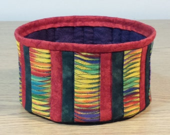 Quilted Fabric Bowl (HbowlJ)