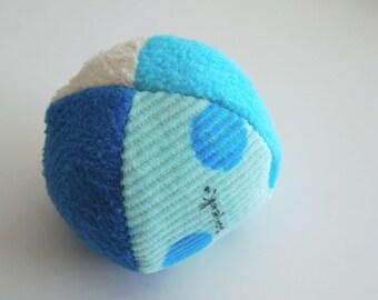 Organic Blues Small Fabric Ball Montessori Toddler Baby Sensory Toy