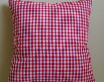 Gingham Pillow Cover,  Throw Pillow Cover,  Pillow Cover, Decorative Pillow, Toss Pillow