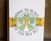 Wishing You The Best In Your New Nest Letterpress Card