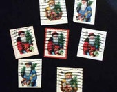 postage stamp stickers - Santa