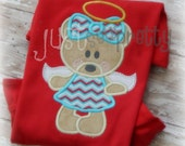 Sweet Angel Bear Embroidery Applique Design