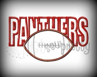 Panthers Football Embroidery Applique Design