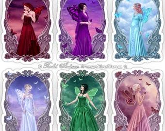 Birthstone Fairy Sticker - Your Choice of Artwork
