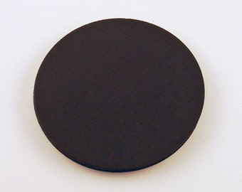Three Inch Die Cut Paper Circles  3 inch Circles in  Jet Black Set of 25