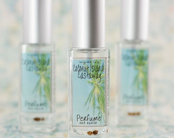 Coconut Island Castaway Perfume | A Beach Inspired Summer Scent of Coconuts, Suntan Loton, Salt Spray and Warm Sand