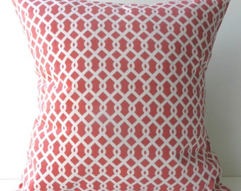 New 18x18 inch Designer Handmade Pillow Cases in pink and white
