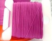 Fuchsia Silk Like Beaders Secret Knotting Thread Beading Stringing Sewing 20 yards  Orchid Pink Purple Card Bobbin