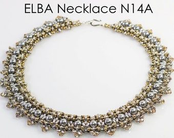 ELBA SuperDuo Beadwork Necklace  DIY Beading Kit Tutorial