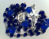 Rosary St Francis of Assisi Cobalt Blue Cat