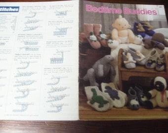 Doll Crocheting Patterns Bedtime Buddies 88C Crochet Pattern Leaflet