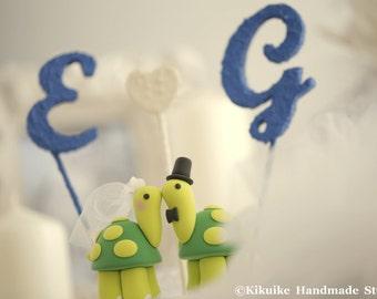 Turtles Wedding Cake Topper---k601