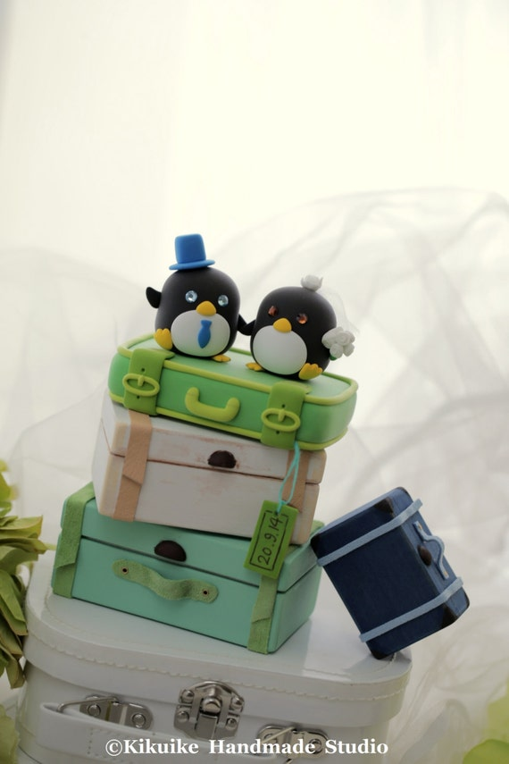 penguin with luggage base (only for 1 clay luggage (K447)