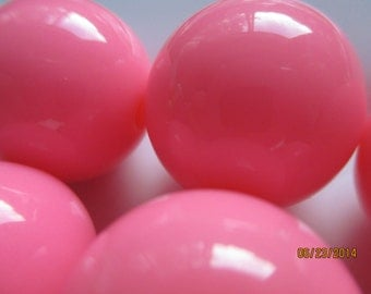 Gumball Chunky Beads    20MM  Necklace Beads  White